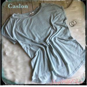 Caslon Mint Pin Dot Cap Sleeve Pullover Top
